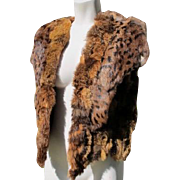 Fur Vest Animal Print Great Condition Medium