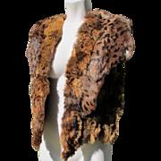 Fur Vest Animal Print Great Condition Medium