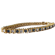 Tennis Bracelet Sapphire Diamonds Costume Faux Never Worn 1980's