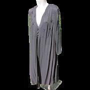 Vintage Black Evening Coat 1950-60's JFK Provenance