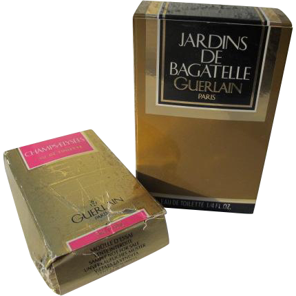 Guerlain Mini Perfume Bottles in Box Jardins 1983 and Champs 1995