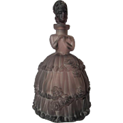 Figural Crystal Perfume Bottle Purple Decanter Faux R Lalique Mark Czech Mold