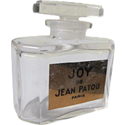 Joy Perfume Bottle All Glass Crystal Label Perfect