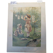 Lithograph Childrens Book Illustrator Harriett Bennett Printer Earnest Nister 1900