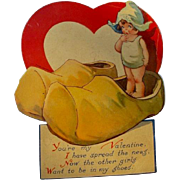 Valentine's Day Card 1920s Illustrator Charles Twelvetrees