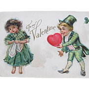Valentines Day Postcard Maud Humphrey Artwork 1910 Nations Series