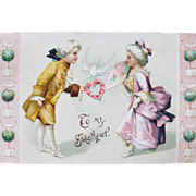 Valentine's Day Postcard Illustrator Maud Humphrey