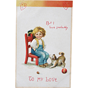 Valentine's Day Postcard Ellen Clapsaddle Illustrator Unused 1908