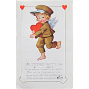 Valentine's Day Postcard Cherub and Hearts Whitney 1920