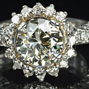 3 Carat Old European Cut Diamond Solitaire / 2..02 Center / CLEARANCE SALE!!!