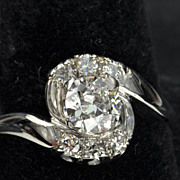 1.01 Old European Cut Diamond Wedding Ring