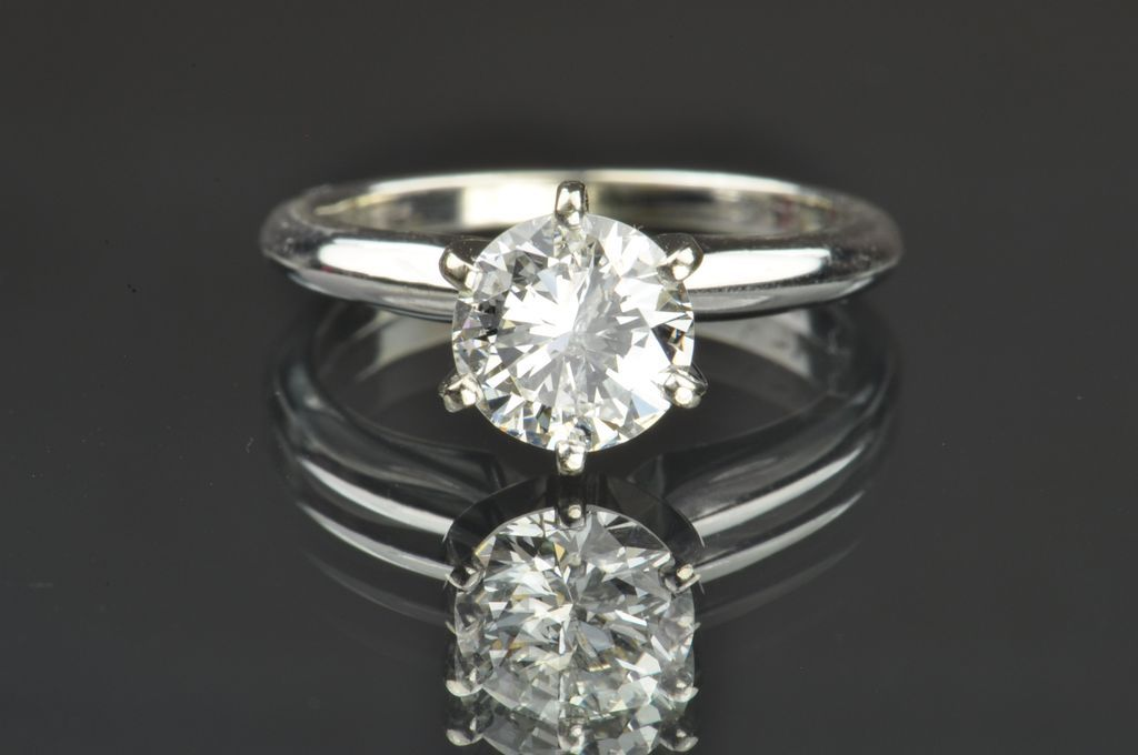 1 05 Carat Diamond Solitaire Engagement Ring from timelessantiques on Ruby Lane
