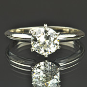1.15 Carat Old European Cut Solitaire Diamond Engagement Ring