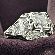 .83 Carat Vintage Diamond Ring