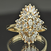 1.75 Carat Diamond Cluster Ring