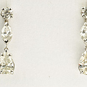3.61 Carat Diamond Dangle Earrings