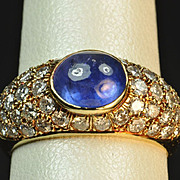2.5 Carat Sapphire and Diamond Ring