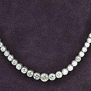 15 Carat Graduated Diamond Necklace