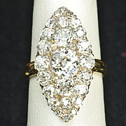 3.45 Carat Old Mine Cut Victorian Diamond Ring