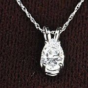 .70 Pear Shaped Diamond Pendant / Necklace
