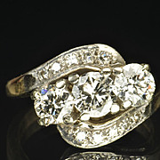 1.45 Carat Old European Cut Diamond Wedding Ring