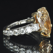 5.64 Carat Fancy Yellow Diamond Ring / GIA Certified