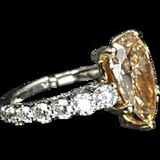 5.64 Carat Fancy Yellow Diamond Ring / GIA Certified