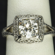 1.10 Carat Old European Cut Diamond Wedding / Engagement Ring