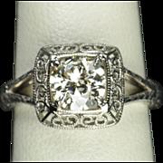 1.10 Carat Old European Cut Diamond Wedding / Engagement Ring