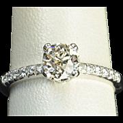 1.23 Carat Old European Cut Diamond Engagement Ring / EGL Certified