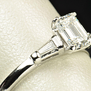 .96 Emerald Cut Diamond Engagement Ring / EGL Certified