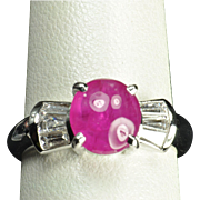 2.47 Ruby and Diamond Ring