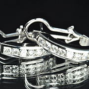 1.5 Carat Diamond Hoop Earrings