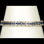 8.5 Carat Sapphire And Diamond Bracelet