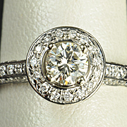 1.35 Carat Diamond Engagement / Wedding Ring