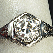 .75 Carat Edwardian Style Engagement / Wedding Ring