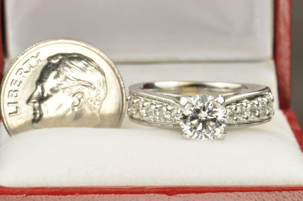 1 52 Carat Diamond Engagement Ring 1 01 Carat Center