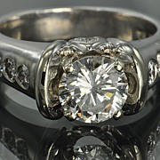 1.59 Carat Diamond Engagement Ring / 1.19 Center / CLEARANCE SALE!!