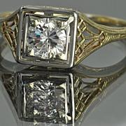 .50 Carat Vintage Diamond Wedding Ring