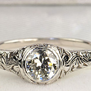 .75 Carat Edwardian Style Diamond Ring