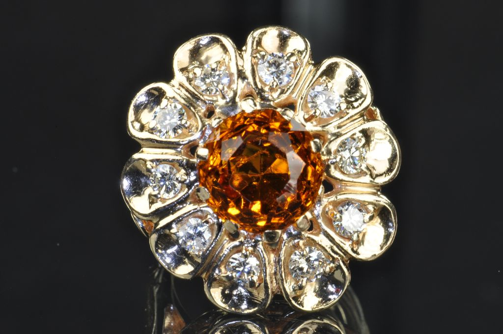 4.7 Citrine and Diamond Ring
