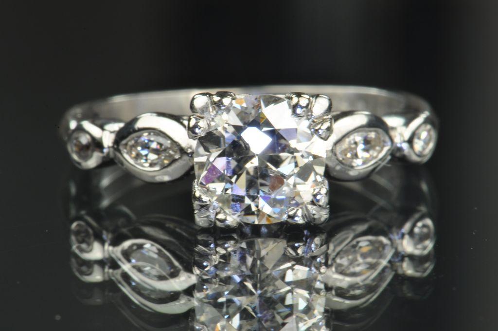 1.25 Carat Old European Cut Diamond Engagement Ring / REDUCED!!!