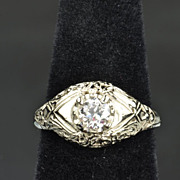 .45 Carat Old European Cut Diamond Wedding/Engagement Ring