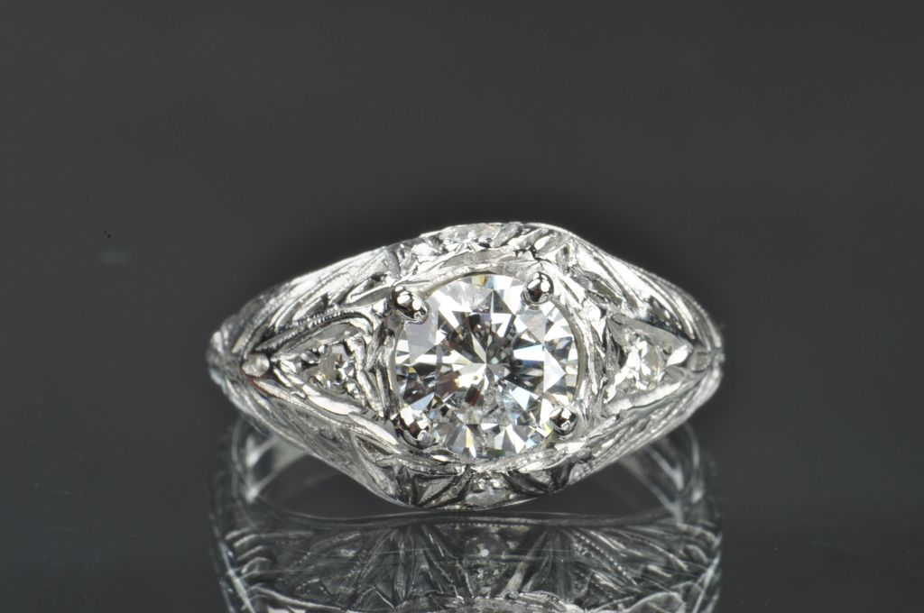 1.12 Carat Diamond Art Deco Style Wedding / Engagement Ring / CLEARANCE SALE!!