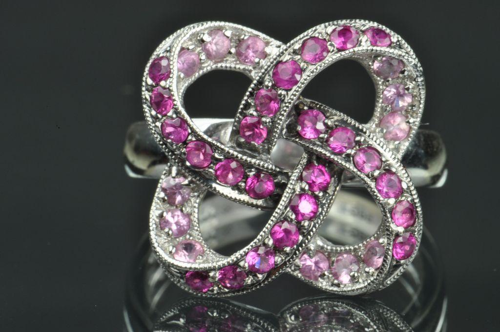 Pink Tourmaline Ribbon Ring