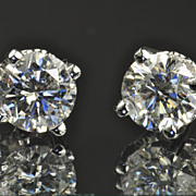 2.01 Carat Diamond Stud Earrings / EGL Certified