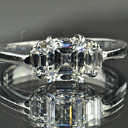 1.41 Carat Emerald Cut Diamond Engagement Ring