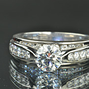 2.48 Carat Diamond Ring / 1.08 Carat Center / CLEARANCE SALE!!