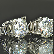 1.30 Carat Diamond Stud Earrings / EGL Certified / CLEARANCE SALE!!