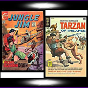 1969 Jungle Jim Comic, No. 26, & 1970 Tarzan Of The Apes Comic, No. 194, Marked 50% Off
